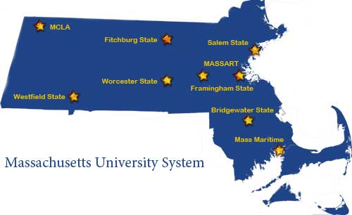 Mass Maritime Campus Map.Massachusetts State Universities